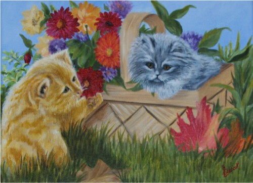 painting kittens n a basket2.jpg