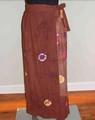 GEETA Hippie Bohemian Gypsy Indian RETRO Ethnic Stonewashed Tie Dye Festival Wrap Skirt