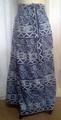 GEETA Hippie Bohemian Gypsy Indian RETRO Ethnic Batik Block Print Wrap Skirt