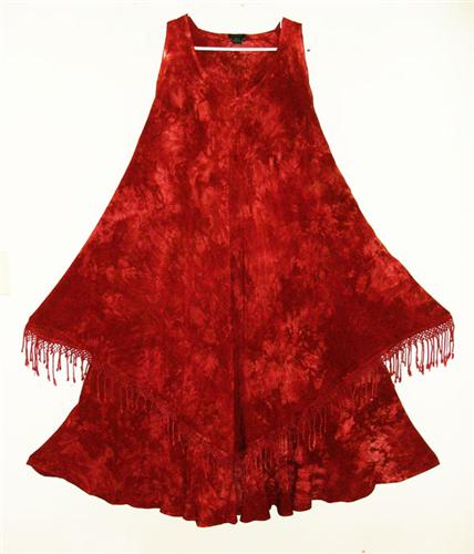 DAIRI Moroccan Susti Goddess XL Magic Dress Burgundy Crystal