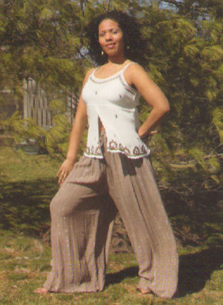 GEETA Hippie Bohemian Gypsy Indian Silver Thread Palazzo Pants All Colors