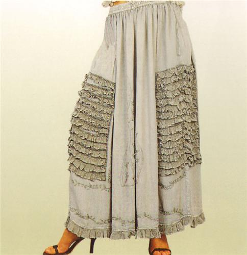 GEETA Hippie Bohemian Gypsy Indian Gothic Renaissance Lace Skirt All Colors