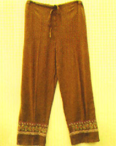 GEETA Hippie Bohemian Gypsy Indian Drawstring Embroidery Pants RETRO Ethnic All Colors