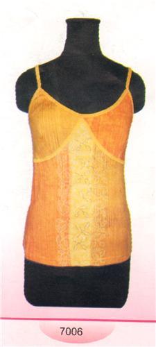 GEETA Hippie Bohemian Gypsy India Hand Block Print Batik Tee Shirt Cami Beads 7006