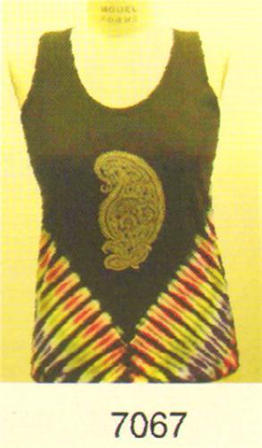 GEETA Hippie Bohemian Gypsy India Hand Block Print Tie Dye Tee Shirt Tank  7067C