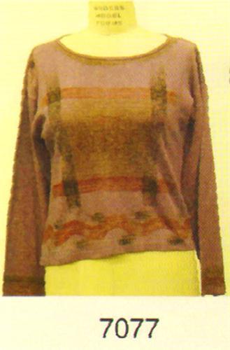 GEETA Hippie Bohemian Gypsy India Symbol Hand Block Print Jaipur LS Tee Shirt  Assorted Colors 7077