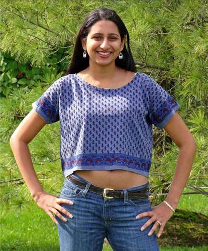 GEETA Hippie Bohemian India Hand Block Print SS Ethnic LAYERING Tee Shirt Assorted Colors  7034C