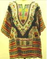 GEETA Hippie Clothes Bohemian Gypsy African Ethnic Rasta Festival Print RETRO Dashiki Top One Size