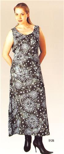 GEETA Hippie Bohemian Gypsy Indian Festival Celestial Ethnic Print Dress 5126