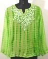 GEETA Hippie Bohemian Gypsy Indian Fancy Embroidery Tie Dye Festival LS Kurta Top 2557