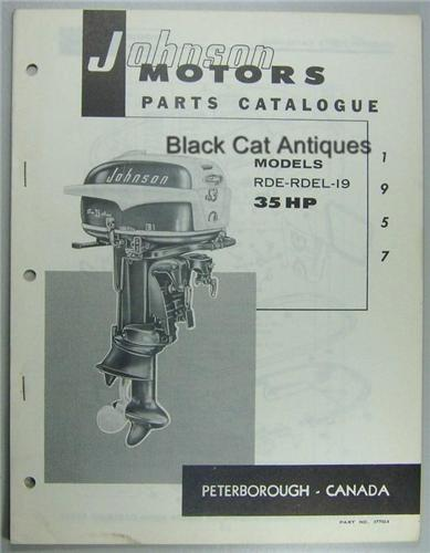 original 1957 johnson motors outboard parts catalog 35hp