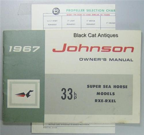 johnson 4 hp outboard owners manual