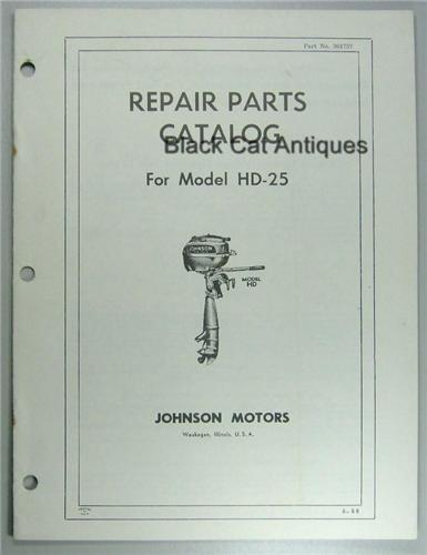 Johnson Evinrude Outboard Motor Parts by Year 1955