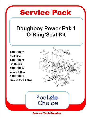 Doughboy Lomart Power Pak I Seal Oring Kit Pool Choice