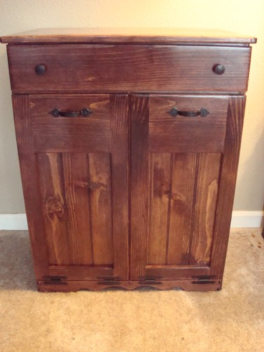 Wood trash can wood garbage cans wooden trash can ask for Kitchen bins cape town