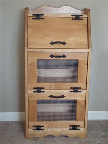 Handcrafted Bread Box - Vegetable Bin - Potato Bin