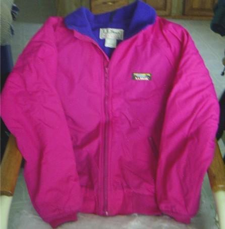 LL Bean Fleece Lined Jacket Sz XL