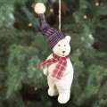 standing polar bear figurine ornament