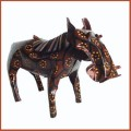 recycled tin can warthog sculpture