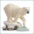country artists polar bear figurine