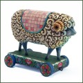 jim shore sheep on cart