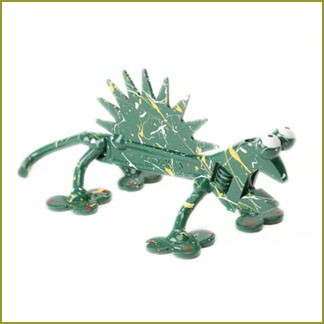 toolies painted lizard figurine
