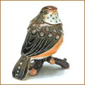 bejeweled baby robin trinket box