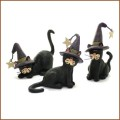 blossom bucket black cats in witches hats