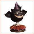 retro halloween bat bobblehead figurine