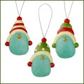 blossom bucket blue bird in winter hats ornaments