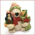 blossom bucket polar bear and penguin with Christmas gifts