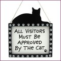 visitors must be approved by cat plaque