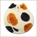 ceramic 5 inch calico cat  dish plate