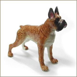 northern rose boxer standing figurine