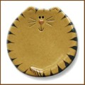 3 inch tan tiger cat mini dish