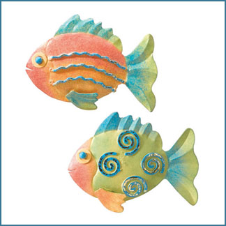 Metal art tropical fish refrigerator office magnets for Best places to magnet fish