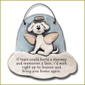 ceramic dog angel memorial ornament