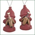 dogs in fire hydrants ornaments