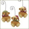 blossom bucket beary christmas teddy bear ornaments