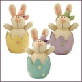 blossom bucket bunnies in easter eggs figurines