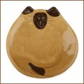 5 inch tan siamese cat dish