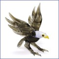 lampwork glass bald eagle figurine ornament