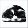 border collie bean bag pupper weight soft sculpture