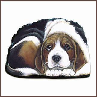 fiddlers elbow beagle dog pupper weight soft sculpture.jpg