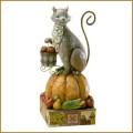 jim shore happy harvest cat on pumpkin figurine