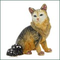 bejeweled enamel turkish angora cat trinket box