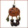 bert anderson dangly pumpkin halloween ornament