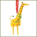 department 56 giraffe bell porcelain ornament