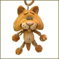 bert anderson dangly cat figurine ornament