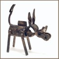 recycled metal wart hog sculpture